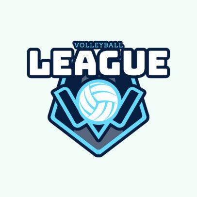 Volleyball League Logo Maker 1513d