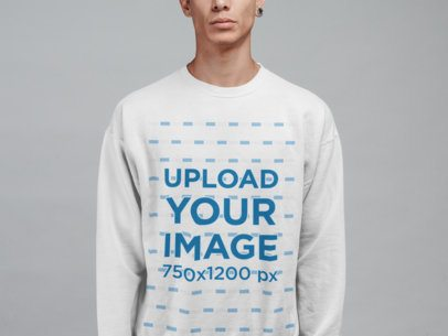 Sweatshirt Mockup Featuring a Man with an Expander Earring 21567