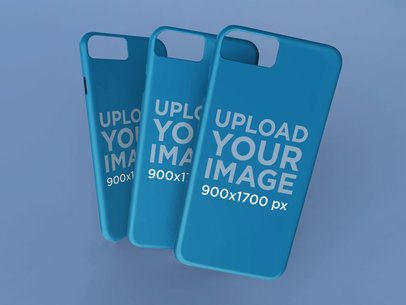Mockup Featuring Three Different iPhone Cases 23143