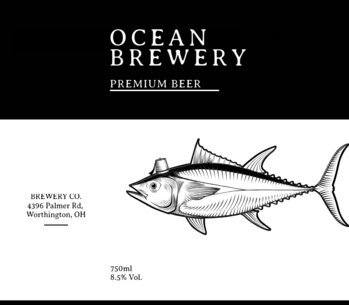 Premium Beer Label Design Maker 763d