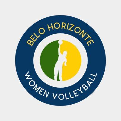 Circular Volleyball Logo Maker 1511a