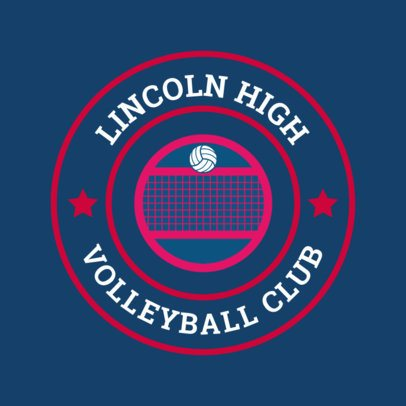 Sports Logo Maker for Volleyball Teams 1511d
