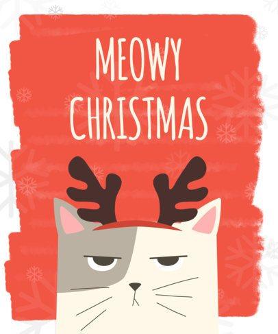 Christmas T-Shirt Design Maker with Animal Graphics 832