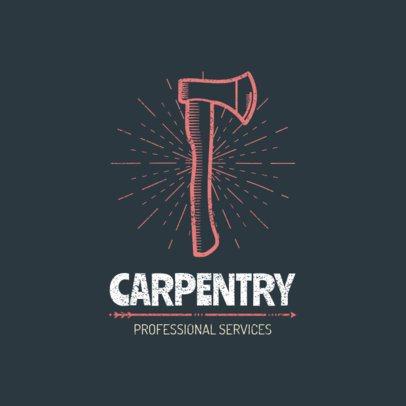 Carpentry Logo Maker 1550a