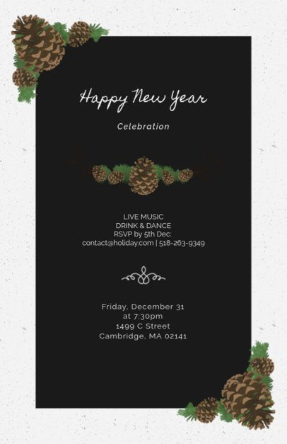 New Year Flyer Template with Christmas Graphics 841b