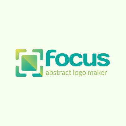 Abstract Logo Template with Square Shapes 1531b