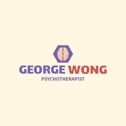 Therapist Logo Maker with Minimalist Graphics 1524c