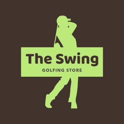 Golfing Store Logo Maker 1555c
