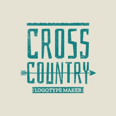 Cross Country Logo Template for XC Teams 1565e