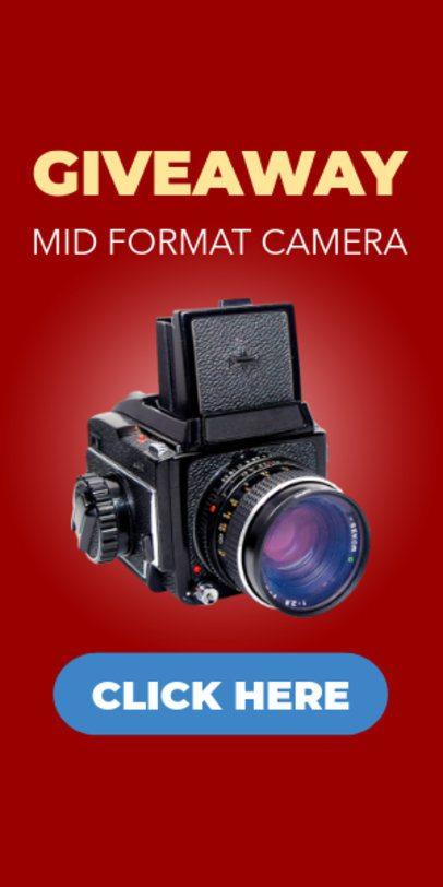 Camera Giveaway Ad Banner Maker 522e