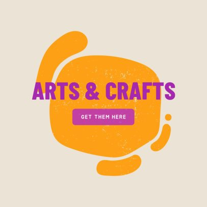 Ad Design Maker for Arts and Crafts Store 540c