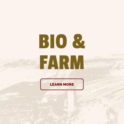 Banner Design Creator for Bio and Farm Site 380e