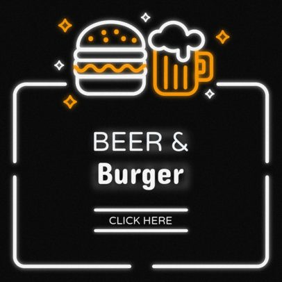 Online Banner Maker for a Beer and Burger Joint #311d