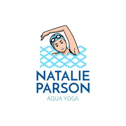 Swimming Logo Template for Aqua Yoga 1576c