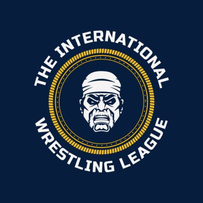 Pro Wrestling Logo Maker for a Wrestling League 1541