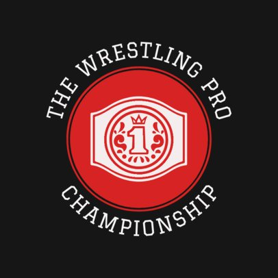 Wrestling Logo Creator for a Professional Championship 1541d
