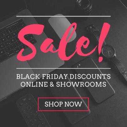 Black Friday Sale Ad Banner Maker 751a