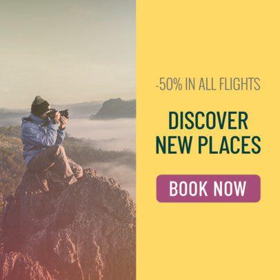 Half Price Travel Deals Banner Ad Maker 542a