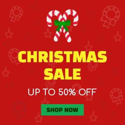 Christmas SaleChristmas Sale Banner Generator with Candy Cane Icon 785a