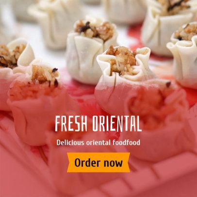 Fresh Oriental Food Ad Banner Creator 364a