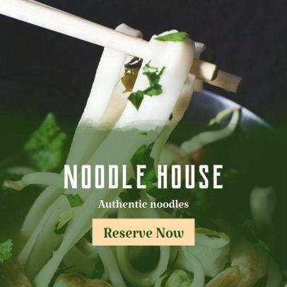 Banner Design Template for Noodle House Restaurants 364b