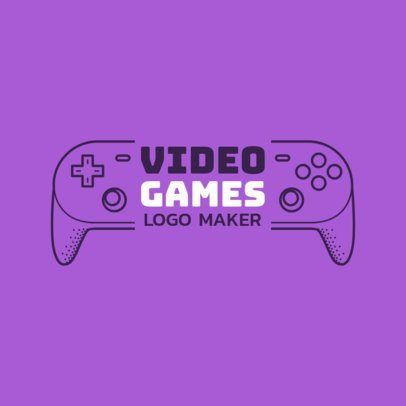 Youtube Gaming Channel Logo Template with Control Graphics 1638a