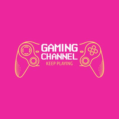 Simple Youtube Gaming Channel Logo Design Generator 1638d