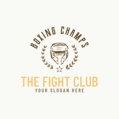 Boxing Logo Generator for Fighting Club 1584a