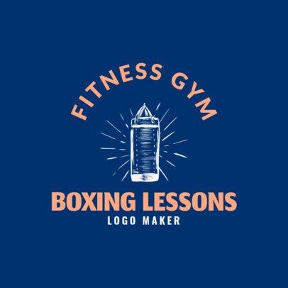 Online Boxing Logo maker for Fitness Gym 1584d