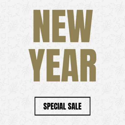 Minimalist Banner Maker for a New Year Sale 743f