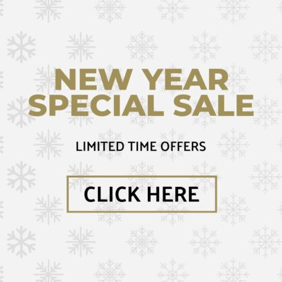 Banner Maker for a New Year Sale with Winter Illustrations 782f