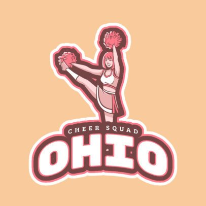 Cheerleader Logo Creator with a Happy Cheerleader Illustration 1595e