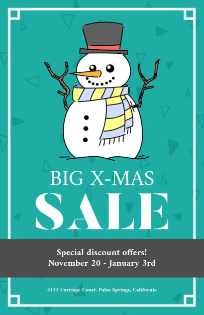 Christmas Flyer Maker for a Holiday Sale with Winter Graphics 857b