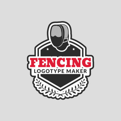 Fencing Logo Maker with a Fencing Mask Clipart 1612