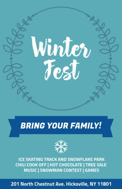 Holiday Flyer Creator for a Winter Festival 869b