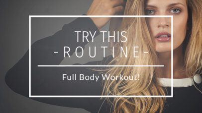 YouTube Thumbnail Template for a Workout Routine 932a