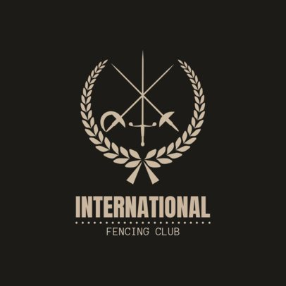 Fencing Logo Maker for an International Fencing Club 1610
