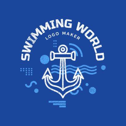 Swim Team Logo Design Template with Aquatic Graphics  1575a