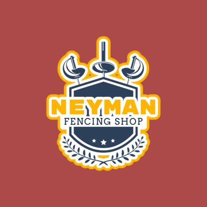 Fencing Logo Maker for a Fencing Shop 1612d