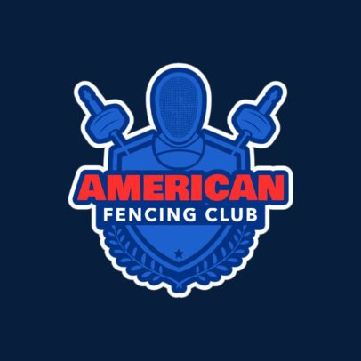 Fencing Logo Design Template for a Fencing Club 1612c
