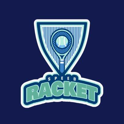 Tennis Logo Generator with Racket Clipart 1600b