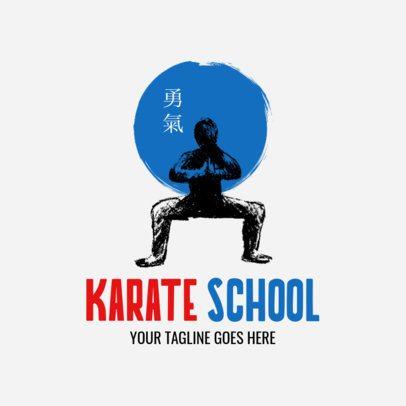 Martial Arts Logo Creator for a Karate School 1605a