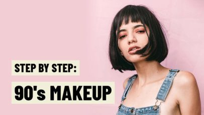 YouTube Thumbnail Maker for a Retro Makeup Tutorial 934d
