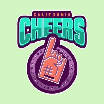 Cheer Logo Maker with Foam Finger Clipart 1598e