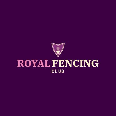 Fencing Logo Design Template for Foil Fencing 1611a
