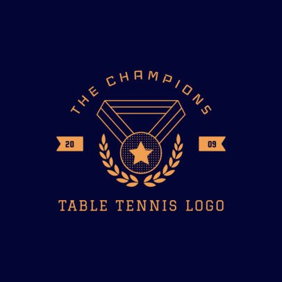 Table Tennis Team Logo Maker 1626d
