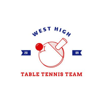 Logo Creator for a Table Tennis Team 1626e