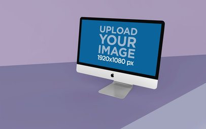 Simple iMac Mockup Featuring a Colorful Surface 24080