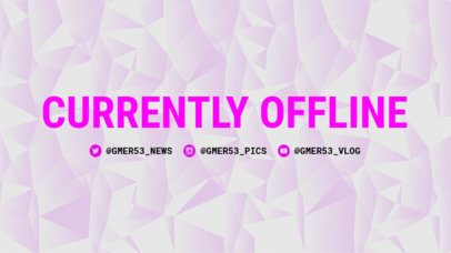 Twitch Offline Template with Pink Hues 977a