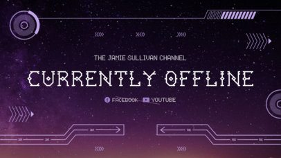 Twitch Offline Banner Template with Futuristic Graphics 978a